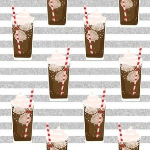 root beer float - cute ice cream soda, pop, root beer drinks, classic -grey stripe