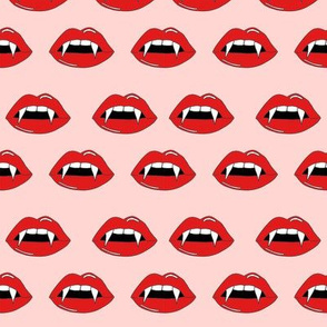 vampire lips - teeth, lip,  lips, halloween, halloween scary, spooky - pink