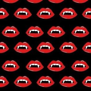 vampire lips - teeth, lip,  lips, halloween, halloween scary, spooky -black