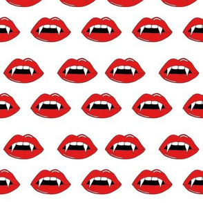 vampire lips - teeth, lip,  lips, halloween, halloween scary, spooky -white