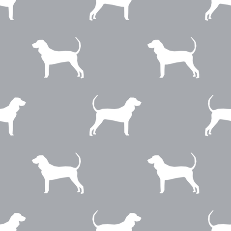 coonhound silhouette fabric - dog silhouette fabric, dog, dogs, pet, pet silhouette design fabric by petfriendly on Spoonflower - custom fabric