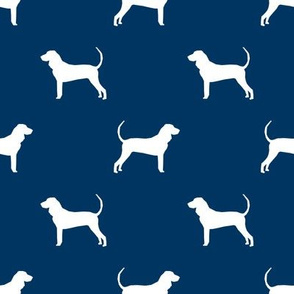 coonhound silhouette fabric - dog silhouette fabric, dog, dogs, pet, pet silhouette design