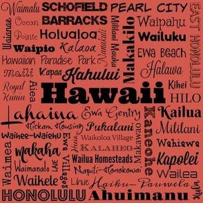 Hawaii cities, coral
