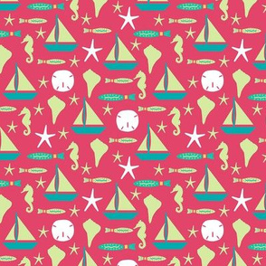 Beach Sailing Red Green Small