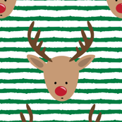 "1"" scale - rudolph - reindeer - green stripes C18BS"