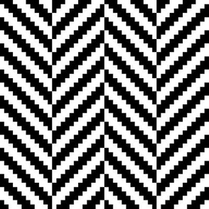 Herringbone Pattern | Black and White Collection