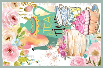 Teatime Linen FQ Teatowel