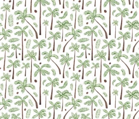 Coconut Palm Trees fabric by elena_o'neill_illustration_ on Spoonflower - custom fabric