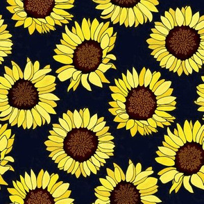 Sunflower are the New Roses! on Navy - Small
