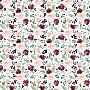 "2"" Wild at Heart Florals White"