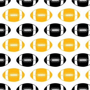 college football (black and gold)