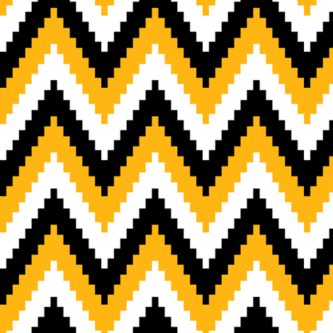 ric rac // black and gold fabric by littlearrowdesign on Spoonflower - custom fabric