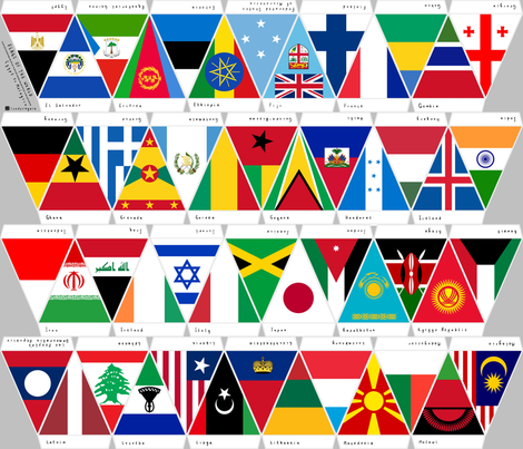 Flags of the World Egypt to Malaysia fabric by landpenguin on Spoonflower - custom fabric