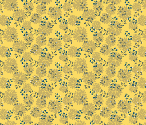 TX Hospitality golden fabric by ninenineteen on Spoonflower - custom fabric