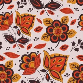 1960s Scandinavian floral