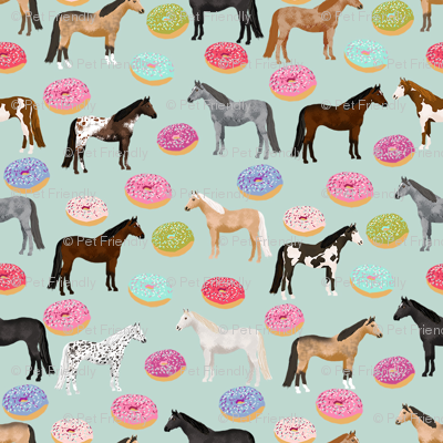 horse donuts cute riding horses mint