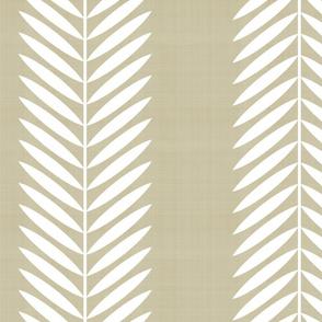 Laurel Leaf Stripe on Tan