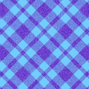 CD3 -  Sparkly Purple and Blue  Plaid - diagonal