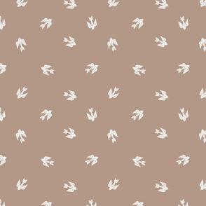bird folk - nature, neutral, kinfolk, new, linocut, hand-stamped, andrea lauren design - coffee