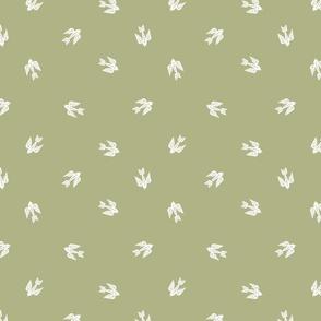 bird folk - nature, neutral, kinfolk, new, linocut, hand-stamped, andrea lauren design - olive