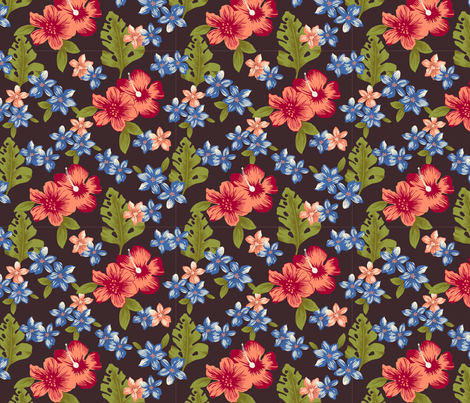Hawaiian delight fabric by studio_jb on Spoonflower - custom fabric
