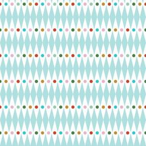 Small World* (Polymer) || circus diamond stripe polka dot crown royal geometric carnival fair harlequin children kids baby nursery rainbow christmas holiday mint