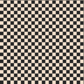 ★ CHECKER ★ Black and White (Ecru) – 1/3 inch / Collection : On fire -Burning Prints