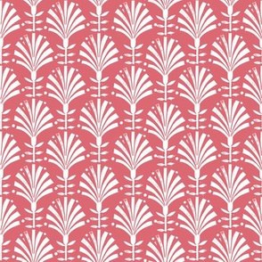 Bloom // folk fan, deco, art deco, decor, linocut, andrea lauren, wallpaper, classic, decor, 20s, retro - warm