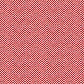 Herringbone Tweed in Rouge