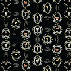 1920s Cocktail pattern