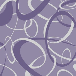 funky loops purple gray geometric