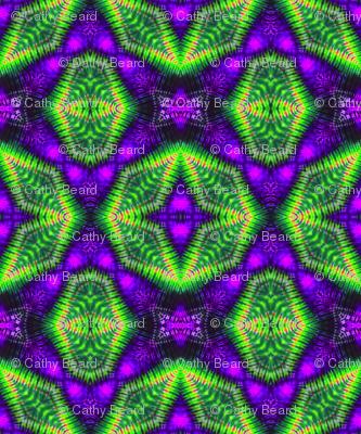 Green & Purple Hexagons