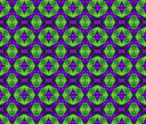 Green & Purple Hexagons fabric by just_meewowy_design on Spoonflower - custom fabric