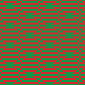 stripey circles are the new triangles red and green