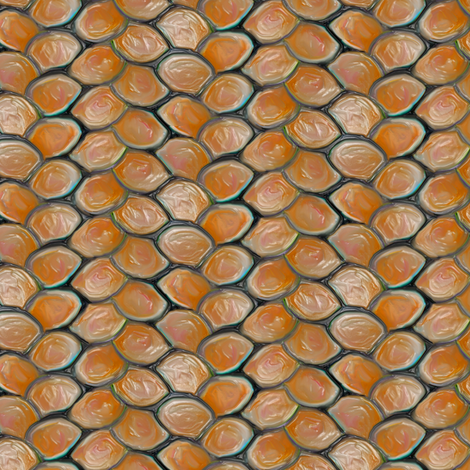 Lava Dragon Scales fabric by eclectic_house on Spoonflower - custom fabric