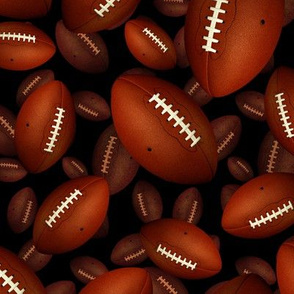 3D look footballs on black