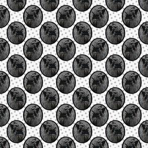 Small Belgian Groenendael Sheepdog framed portraits