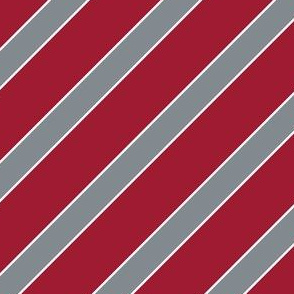 Alabama Crimson Stripes Crimson Grey Stripe