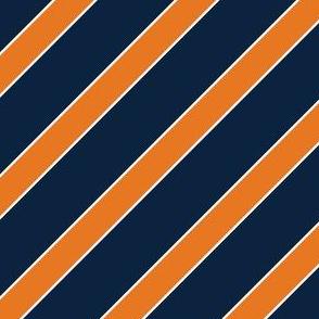 Auburn Blue and Orange Stripes Stripe