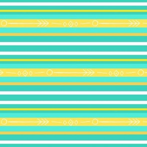 Bee's knees stripe / aqua