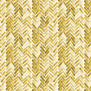 mustard watercolor herringbone half scale