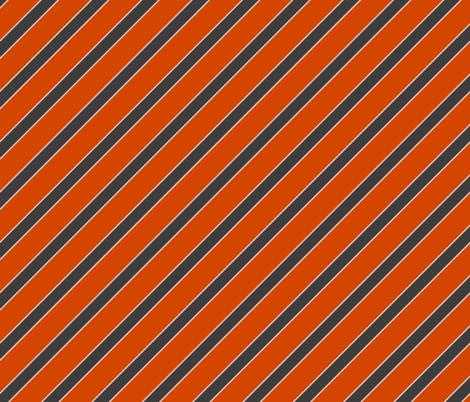 Syracuse Orange Cuse New York Stripes Stripe fabric by khaus on Spoonflower - custom fabric