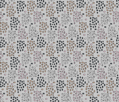 Rectangle Square Doodle Vector Pattern Seamless  fabric by limolida on Spoonflower - custom fabric