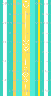 Bee's knees stripe / aqua  2