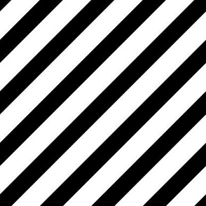 Diagonal Stripes | Black and White Collection