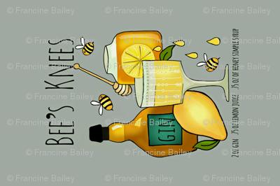 Bee's Knees Vintage Cocktail / grey