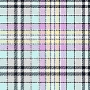 """Four Quarters tartan, 6"""" pastel star colors"""