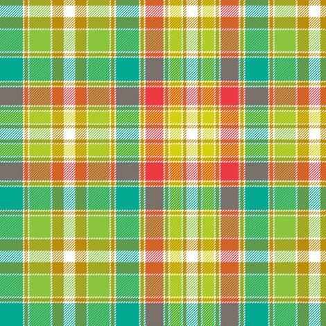 "Four Quarters tartan, 6"" botanical colors fabric by weavingmajor on Spoonflower - custom fabric"