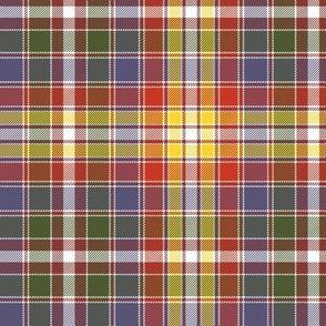 """Four Quarters tartan, 6"""" autumn colors"""