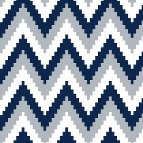 ric rac // silver and navy